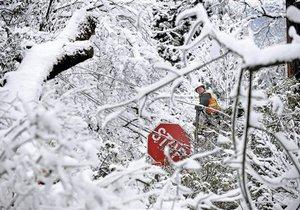 Киев в снежном плену